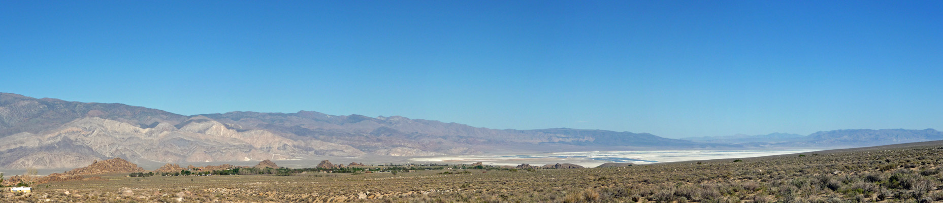 Owens Valley from Tuttle Creek Campground CA