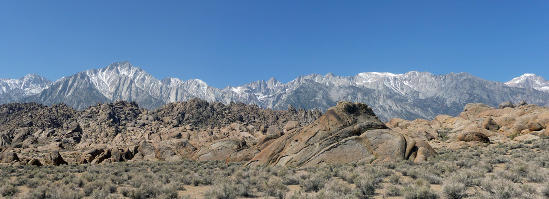 Sierra from Movie Road trail Lone Pine CA