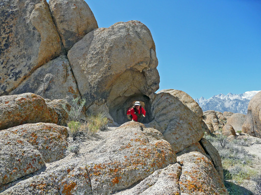 Walter Cooke in hole in wall Alabama Hills CA