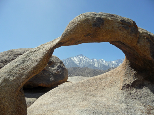 Mobius Arch with Mt Whitney Alabama Hills CA