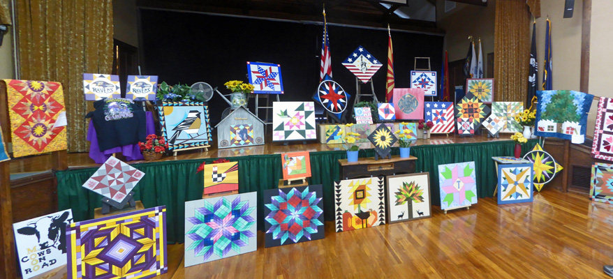 Barn Quilts at Quilt Show