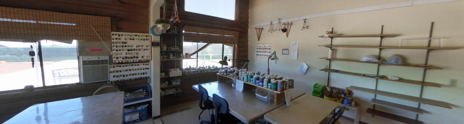JRR pottery glazing studio