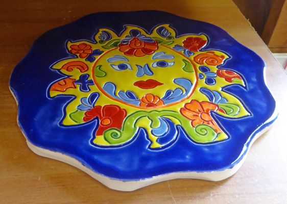 Trivet with Mexican sun