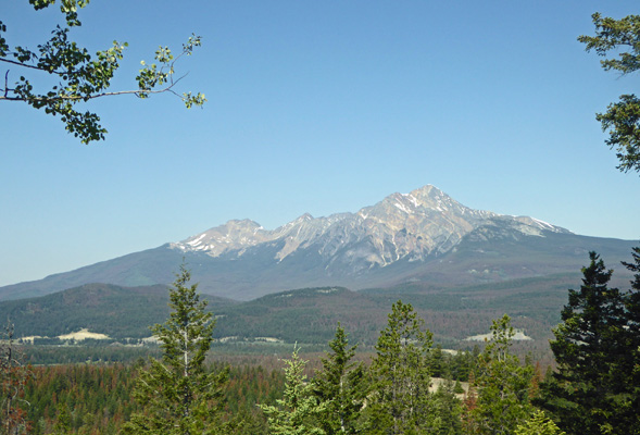 Pyramid Mountain from Maligne Overlook