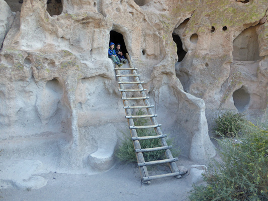 Caves and kids at Bandelier NM