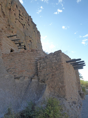 Bandelier house reconstruction