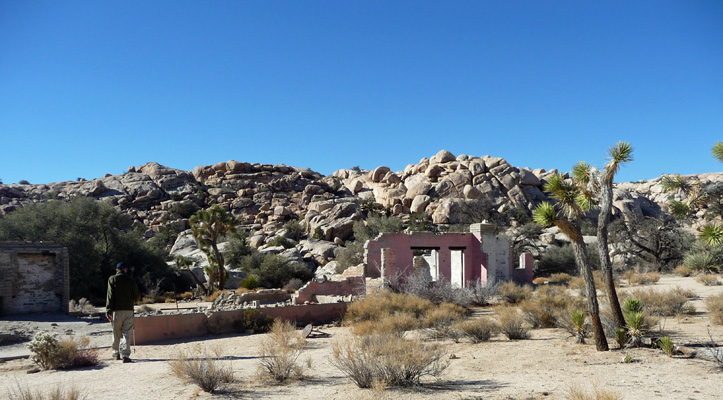 Old ranch building off Wall Street Mill trail Joshua Tree National Park