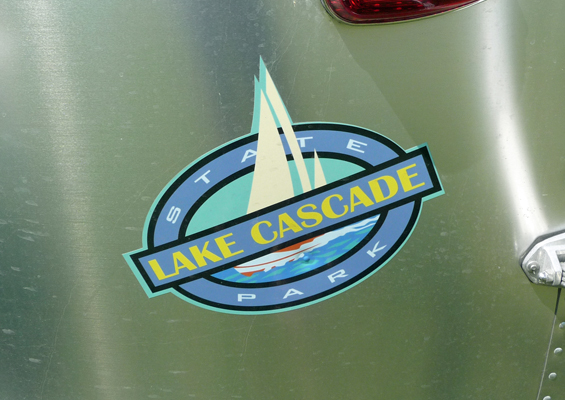 Lake Cascade State Park Logo on Airstream