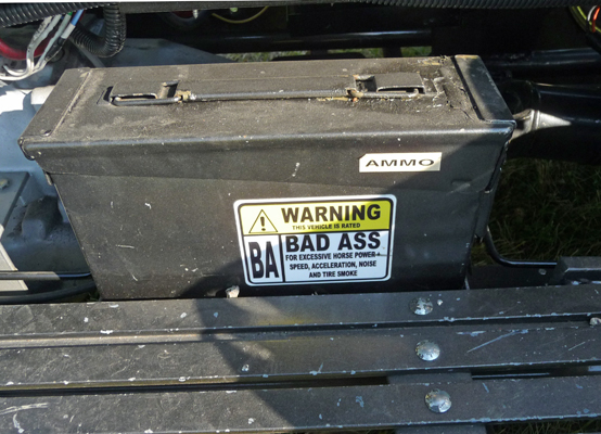 V8 motorcycle ammo box