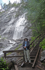 Walter Cooke at Bridal Veil Falls on Lake Serene Trail