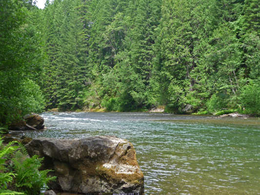 Lewis River at Lower Falls campground