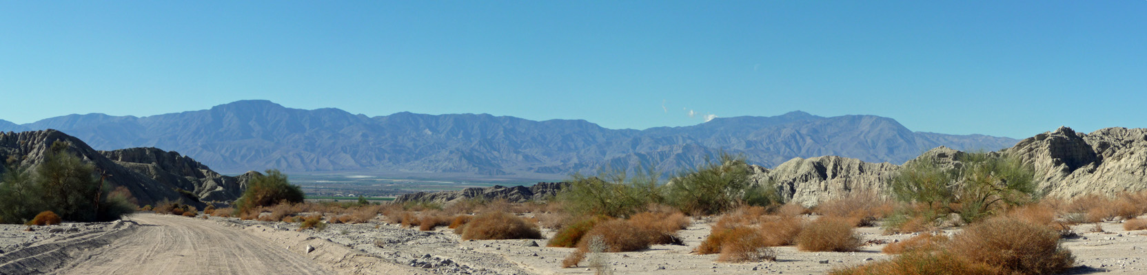 Little San Bernardino Range and Choachella Valley CA