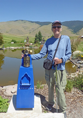 Walter Cooke and prayer wheel