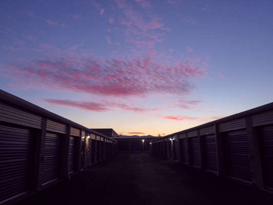 Sunrise at the storage unit