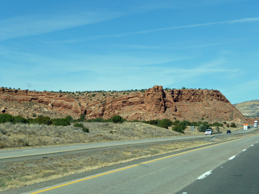 Red rock formation New Mexico