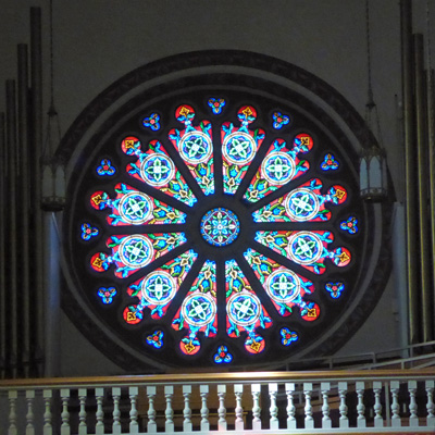 Rose window St. Francis Cathedral