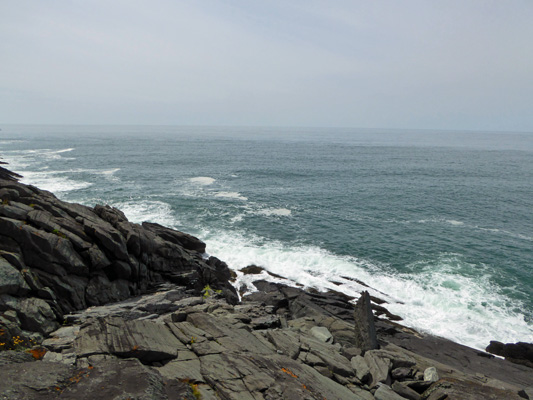 Surf on rocks False Bay NS