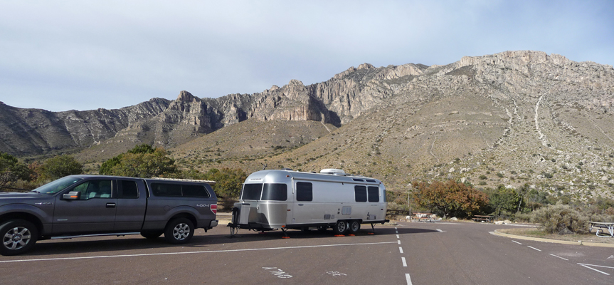 Genevieve Airstream Guadalupe Mts NP