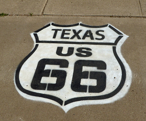 Texas US 66 sign