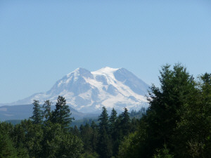 Mt Rainier from the west