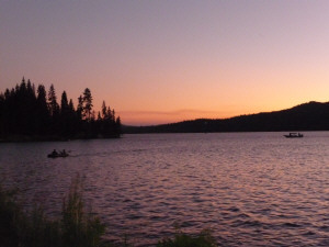 Sunset at Diamond Lake, OR