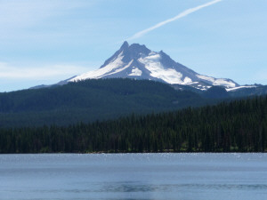 Mt Jefferson from Olallie Lake