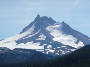 Mt Jefferson from the trail