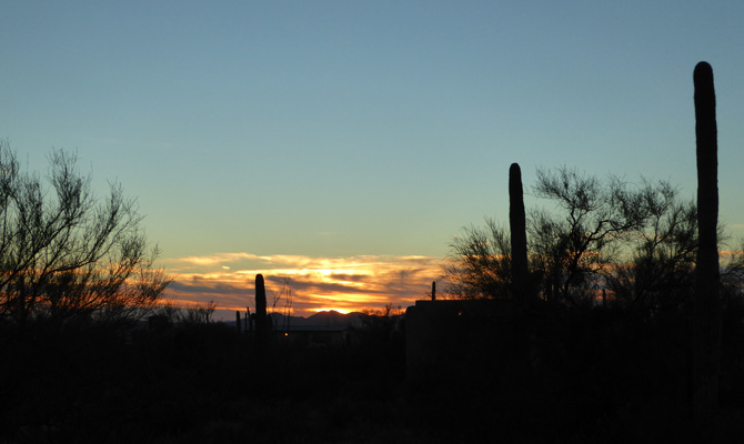 Sunset Gilbert Ray Campground Tucson