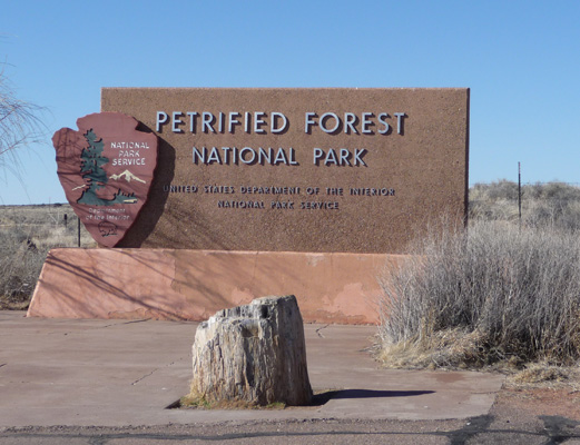 Petrified Forest NP sign