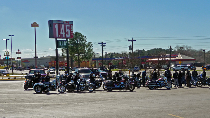 Motorcycles at Walmart Livingston TX
