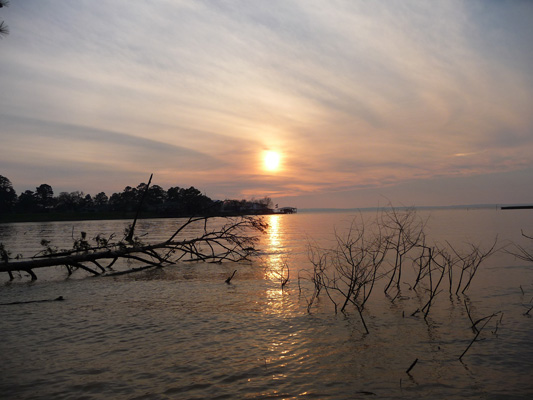 Late afternoon Lake Livingston SP