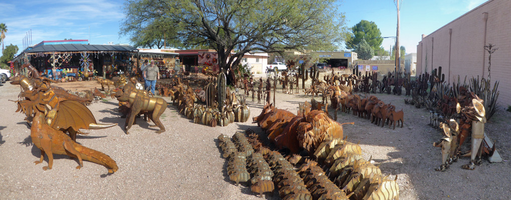 Tubac metal sculptures
