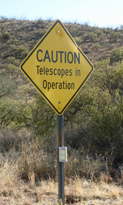 Caution Telescopes in Operation