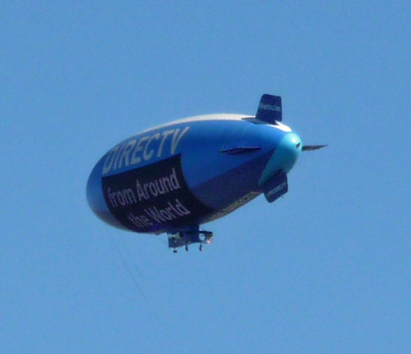 Direct TV blimp at Torrey Pines SP