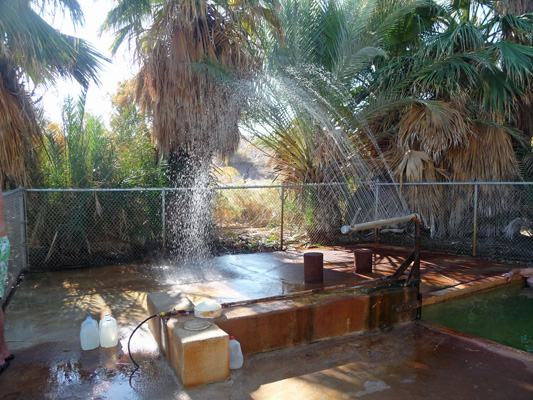 Shower at Holtville Hot Spring