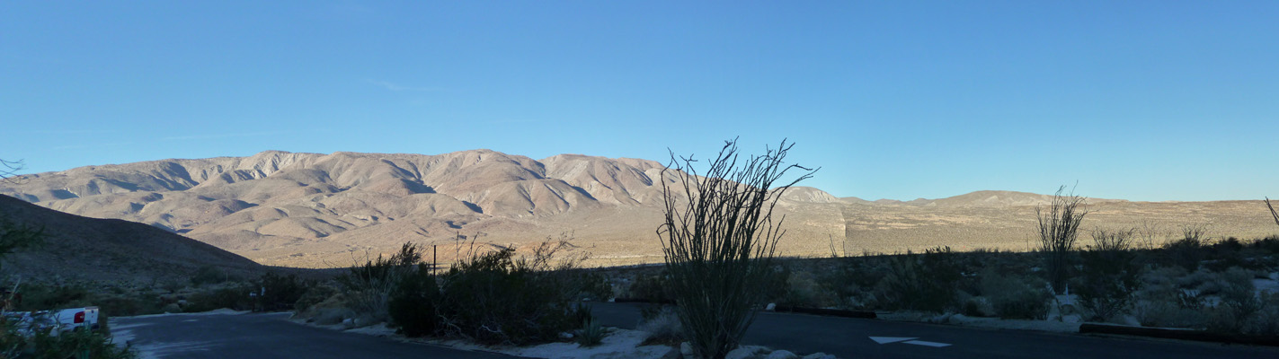 View from campsite at Agua Caliente County Park CA