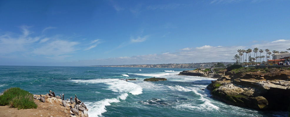 La Jolla Cove area panorama
