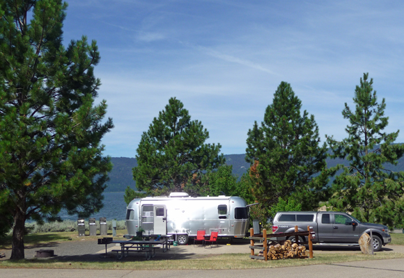 Host site at Sugarloaf Campground ID