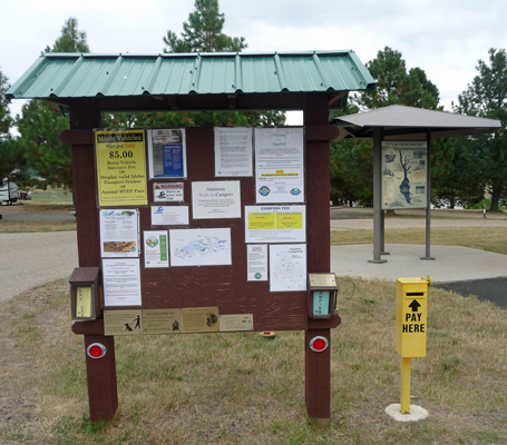 Registration Kiosk at Sugarloaf Campground