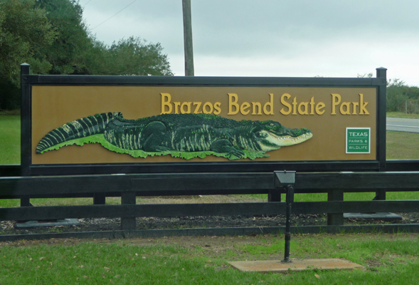 Brazos Bend State Park sign