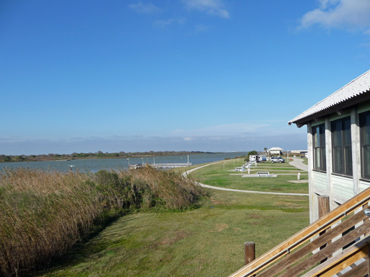 view from deck Matagorda Nature Center