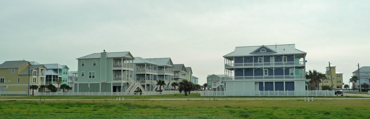 Beach houses Galveston Island