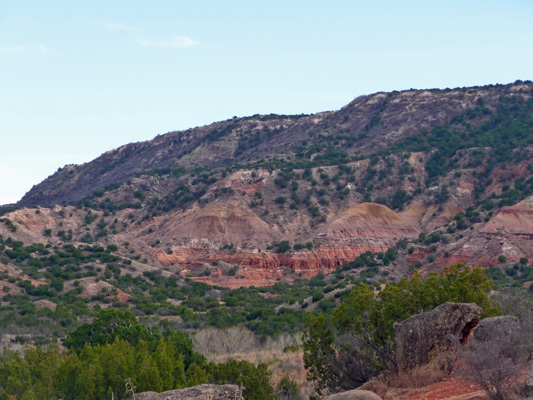 Equestrian Campground view Palo Duro Canyon