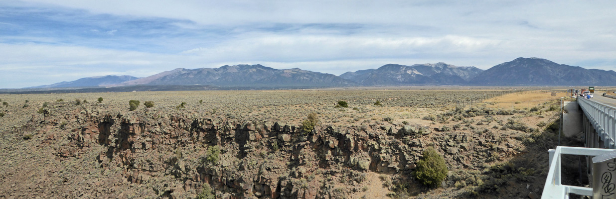Mountains from Rio Grande Gorge