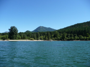 View looking east from Rattlesnake Lake WA