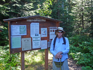 Walter Cooke at Tonga Ridge Trailhead WA