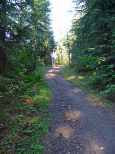 Walter Cooke on rise at beginning of Tonga Ridge Trail WA