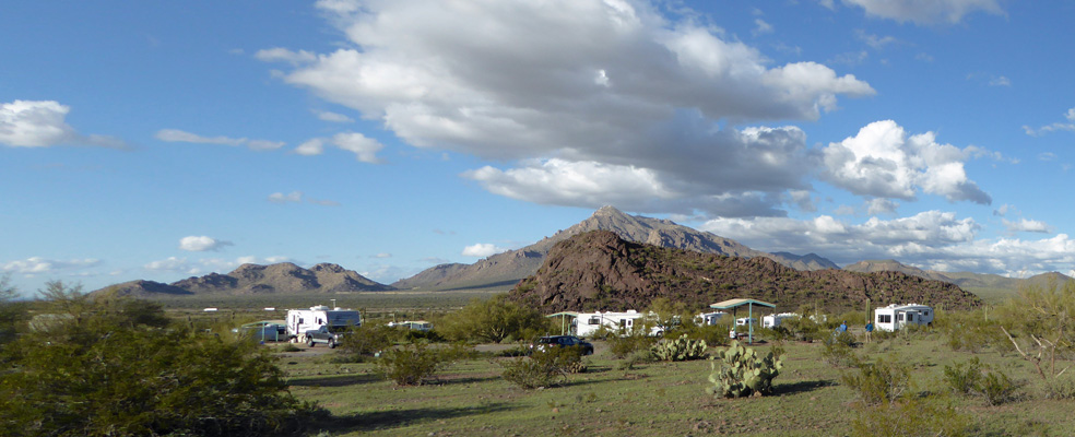 Picacho Peak Campground view