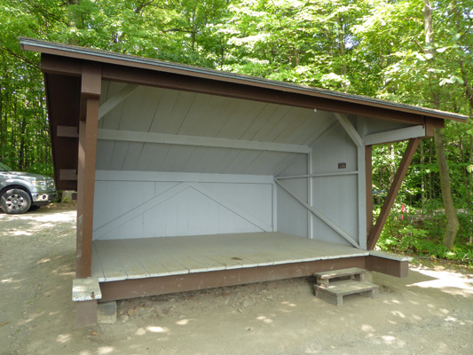 Grand Isle State Park camping shelter