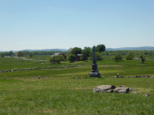 Pickett's Charge hilltop